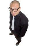 Junger nerdy Geschäftsmann Stockbild