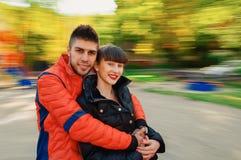 Junger Paarherbst Lizenzfreies Stockbild