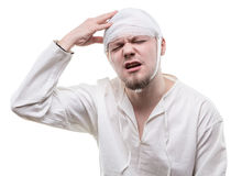 Junger Patient mit Kopfschmerzen Lizenzfreie Stockbilder
