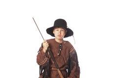 Junger Pelz Trapper von der frühen amerikanischen Geschichte lizenzfreies stockbild