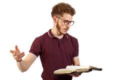 Junger predigender Lehrer Stockfoto