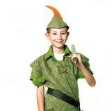 Junger Robin Hood lizenzfreies stockfoto