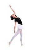 Junger schöner Balletttänzer lokalisiert über weißem Hintergrund Stockbild