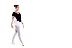 Junger schöner Balletttänzer lokalisiert über weißem Hintergrund Lizenzfreies Stockfoto