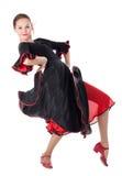 Junger schöner Flamencotänzer Stockbild