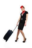Junger schöner Flugbegleiter lizenzfreie stockbilder