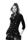 Junger schöner weiblicher Modellabschluß oben, werfend in der Schönheitsart auf Lizenzfreies Stockfoto
