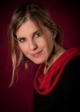 Junger schöner weiblicher Modellabschluß oben, werfend in der Schönheitsart auf Lizenzfreie Stockbilder