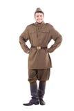Junger Schauspieler gekleidet in den Militäruniformen russisch stockbild