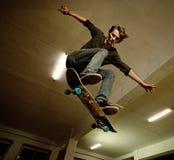 Junger Schlittschuhläufer Stockfoto