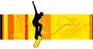 Junger Schlittschuhläufervektor lizenzfreie abbildung