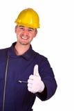 Junger Schwerindustriemannhintergrund Stockbilder