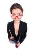 Junger Sekretär, der Kenntnisse nimmt Stockbilder