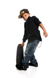 Junger Skateboardfahrer Stockfotos