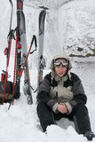 Junger Skifahrer Lizenzfreie Stockfotos