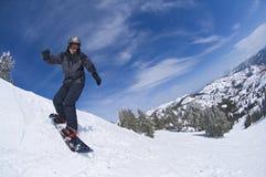 Junger Snowboarder Lizenzfreies Stockfoto
