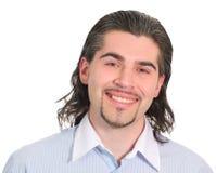 Junger stattlicher Mann getrenntes Weiß Stockbild
