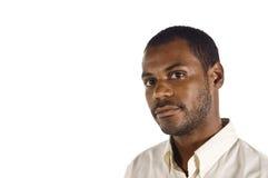 Junger stattlicher schwarzer Mann lizenzfreies stockbild