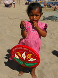 Junger Strandverkäufer Stockfoto