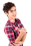 Junger Student, der Bestimmtheit ausdrückt Stockfotos