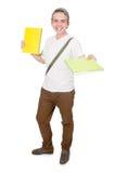 Junger Student lokalisiert Stockbild