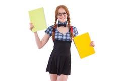 Junger Student lokalisiert Lizenzfreie Stockfotos
