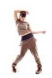 Junger Tänzer. getrennt auf Weiß Lizenzfreie Stockfotos