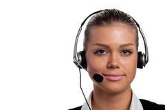 Junger Telefonbediener Stockfoto