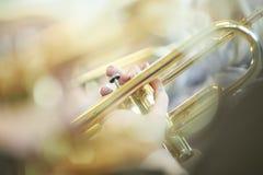 Junger Trompeter Lizenzfreie Stockfotos