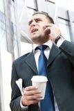 Junger und erfolgreicher Geschäftsmann Stockfoto
