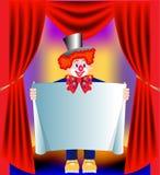 Junger unterhaltender Clown mit pape Stockbild