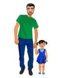 Junger Vater und kleine Tochter Lizenzfreie Stockfotografie