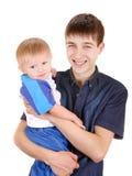 Junger Vater und Sohn Stockbild