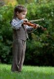 Junger Violinist Stockfotografie