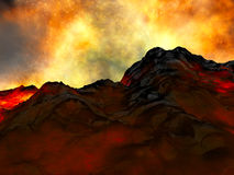 Junger Vulkan, der getragen wird Lizenzfreies Stockfoto