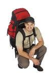 Junger Wanderer stockfoto