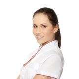 Junger weiblicher Doktor oder Krankenschwester lizenzfreie stockfotos