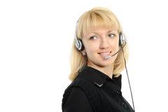Junger weiblicher Kundendienstrepräsentant Lizenzfreie Stockfotografie