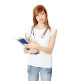 Junger weiblicher Medizinkursteilnehmer lizenzfreie stockfotos