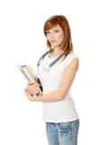 Junger weiblicher Medizinkursteilnehmer stockfoto