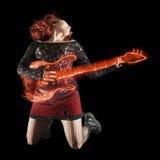 Extrahieren Sie Gitarristen Stockbilder