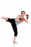 Junger weiblicher siamesischer Boxer Lizenzfreie Stockfotos