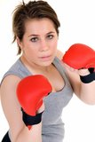 Junger weiblicher siamesischer Boxer Lizenzfreies Stockbild