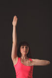 Junger weiblicher Tanzenjazz lizenzfreies stockbild