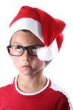 Junger Weihnachtsjunge stockbilder