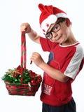 Junger Weihnachtsjunge lizenzfreie stockfotografie