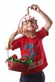 Junger Weihnachtsjunge Stockbild