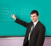 Junger Wissenschaftler, der einen Vortrag gibt Lizenzfreie Stockbilder