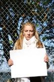 Junges Ökologemädchen Lizenzfreies Stockfoto