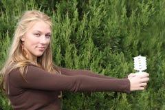Junges Ökologemädchen stockbilder